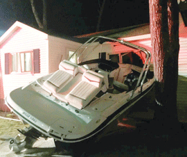 Stolen Boat Crashes Through House on Ossipee Lake